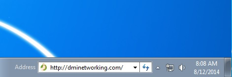 Web Address on Desktop